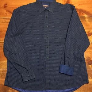 Johnston & Murphy XXXL Long Sleeve Dress Shirt